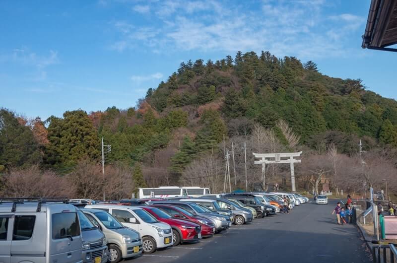 あたご天狗の森の駐車場