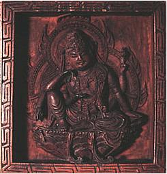 木造浮彫如意輪観音像(冊子より引用)