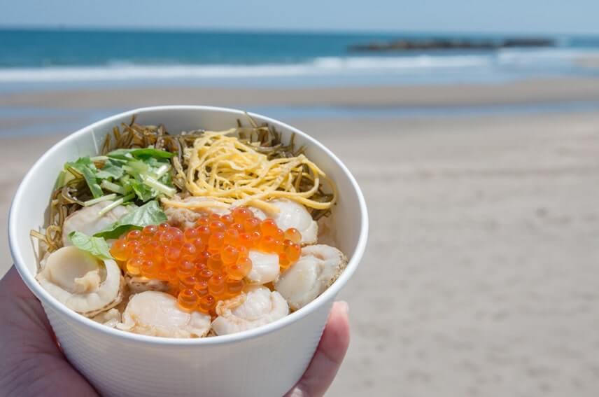 海岸でいただく釜飯