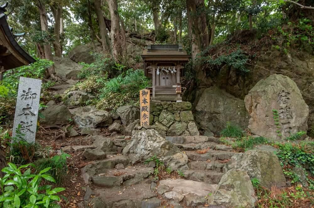 本殿への登り口