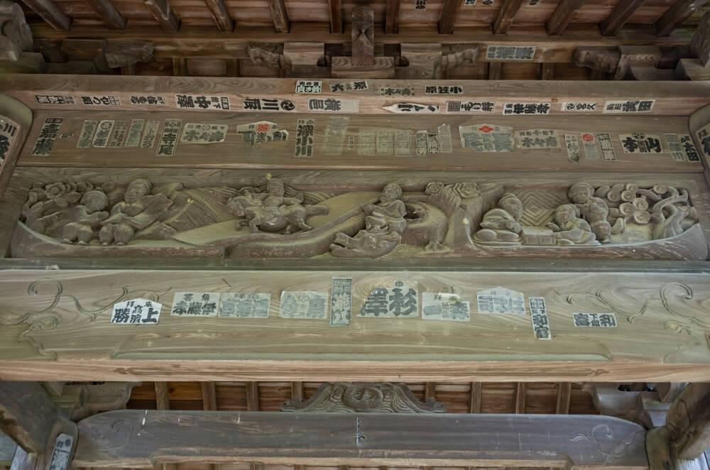山門の彫刻