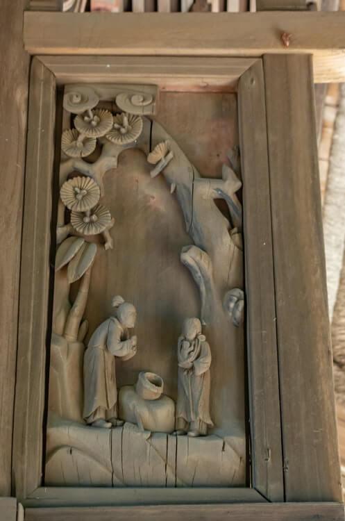 本殿の彫刻2