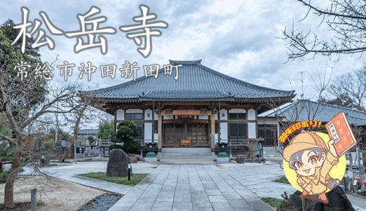 松岳寺と「あわしま様」|常総市